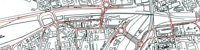 Ponte Flaiano: dettagli progettuali dell'assetto viario